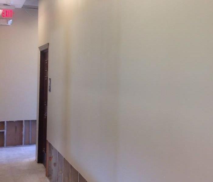 commercial hallway with clean walls.