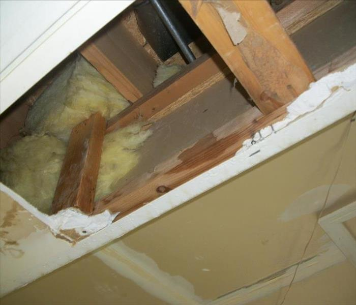 Ceiling Damage due to Toilet Overflow